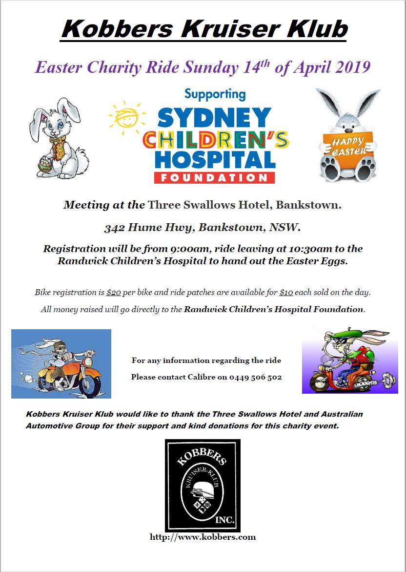 SYD Easter Charity Ride